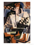 Harlequin with a Guitar, 1917 Giclee Print by Juan Gris