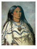 Mint, a Mandan Indian Girl, 1832 Giclee Print by George Catlin