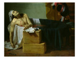 The Death of Marat, 1793 Giclée-Druck von Joseph Roques