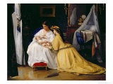 First Born, 1863 Reproduction procédé giclée par Gustave Léonard De Jonghe