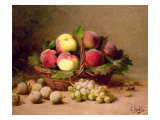 Still Life of Fruit Giclee Print by Leon-charles Huber