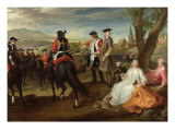 Review of the Black Musketeers on the Plaine Des Sablons, 1729 Giclee Print by Paul Ponce Antoine Robert