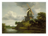 Windmill by a River Giclee Print by Jacob Isaaksz. Or Isaacksz. Van Ruisdael