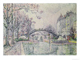The Canal Saint-Martin, 1933 Giclee Print by Paul Signac