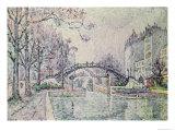 The Canal Saint-Martin, 1933 Gicléetryck av Paul Signac
