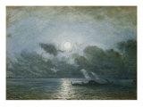 Venice by Moonlight Giclee Print by Felix Ziem