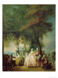 Promenade at Longchamp, c.1760 Giclee Print by Gabriel De Saint-aubin