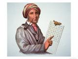 The Cherokee Scholar, Sequoyah Giclee Print