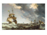Storm at Sea Giclee Print by Bonaventura Peeters