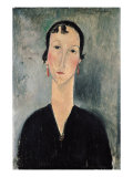 Woman with Earrings Giclee Print by Amedeo Modigliani