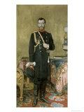 Portrait of Emperor Nicholas II Giclee Print by Ilya Efimovich Repin