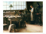 The False Teeth Workshop, c.1880 Giclee Print by C. Durif-bedel