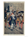 The Caning of Voltaire Giclee Print by Louis Bombled