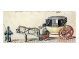 Horse and Carriage, 1825 Giclee Print by Pierre Antoine Lesueur