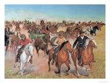 Oklahoma Land Rush, 1889 Giclee Print by H.c. Mcbarron