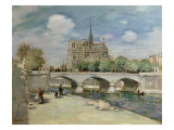 Notre Dame de Paris, c.1900 Giclee Print by Jean Francois Raffaelli