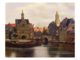 View of Delft c.1660-61 Gicl&#233;e-Druck von Jan Vermeer