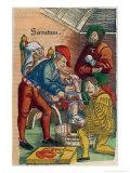 Amputation, Illustration from Feldtbuch Der Wundartzney by Hans Von Gersdorff, c.1540 Giclee Print by Hans Or Johannes Ulrich Wechtlin