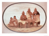 Pawnee Warriors, c.1832 Giclee Print by George Catlin