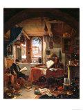 Alchemist in His Laboratory Giclee Print by Thomas Wyck