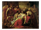 The Death of Epaminondas Giclee Print by Louis Gallait