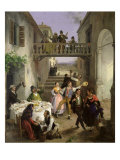 Wedding at Brianza, 1873 Reproduction procédé giclée par Angelo Inganni