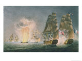 Capture of the Rivoli, 1812, the Naval Achievements of Great Britain Ralfe, c.1820 Giclee Print by Captain John William Andrew