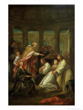 Baptism of St. Augustine Giclee Print by Louis De, The Younger Boulogne