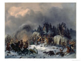 Scene from the Russian-French War in 1812 Giclee Print by Bogdan Willewalde