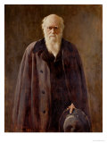 Portrait of Charles Darwin Giclee Print by John Collier