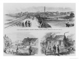 Trent River Settlement, 1886 Giclee Print by Theodore Russell Davis