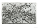 Map of Westminster from &#39;speculum Britannia&#39;, 1593 Giclee Print by John Norden