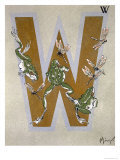 Capital Letter W, from L'Art Croquis D'Animaux, Published Paris, c.1920 Giclee Print by Jean Saude