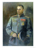 Portrait of the Marshal of the Soviet Union and Poland, Konstantin Rokossovsky Giclee Print by Vassily Nikolayevich Yakovlev
