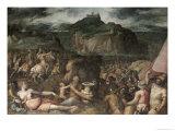 The Siege of San Leo Giclée-Druck von Giorgio Vasari