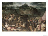 The Siege of San Leo Giclee Print by Giorgio Vasari