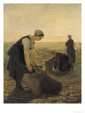 The Potato Harvest Giclee Print by Ernest Masson