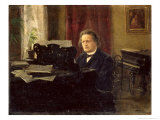 Portrait of Composer Anton Rubinstein Giclee Print by Michail Michailovich Yarowoy