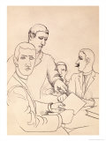 Friends Drawing Giclee Print by Roger De La Fresnaye