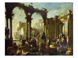Ruins of the Baths of Caracalla Giclee Print by Giovanni Ghisolfi