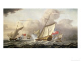 The Royal Yacht Mary Exchanging Salutes Giclee Print by Cornelis Van De Velde