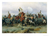 The Exploit of the Mounted Regiment in the Battle of Austerlitz, 1884 Giclee Print by Bogdan Willewalde