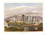 Temples of Erectheus and Pandrosus, the Acropolis, Remains of Ancient Monuments in Greece Giclee Print by William Cole