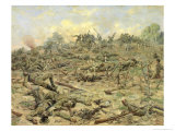The Russian Infantry Attacking the German Entrenchments, 1918 Giclee Print by Pyotr Pavlovich Karyagin