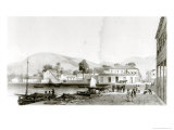Custom House and St. Vincent's Wharf, Trinidad, Engraved by Eugene Ciceri, c.1850 Giclee Print by Jean-michel Cazabon