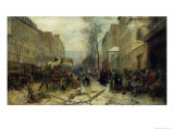 Bombardment of Paris in 1871 Giclee Print by Felix Philippoteaux