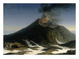 The Eruption of Etna Giclee Print by Jacob-Philippe Hackert