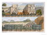 Train of Wagons Giclee Print by Thomas Talbot Bury
