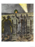 The Christmas Day Truce of 1914 Reproduction procédé giclée par Frederic Villiers