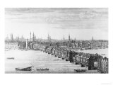West Front of London Bridge, 1749 Giclee Print by Nathaniel Buck